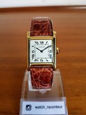 "Sublime Vintage Cartier Tank Normale 18k YG. Rare Mechanical Watch ""Jackie O"""