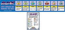 Arkanoid arcade Instruction cards