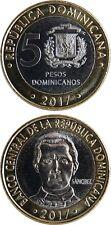 DOMINIKANISCHE/DOMINICAN REPUBLIC 5 Pesos 2017 UNC (new type/'DOMINICANOS')