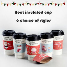 Disposable Christmas insulated cup set for coffee cup water glass Christmas styl