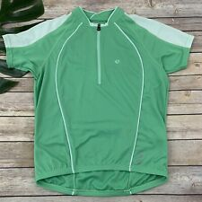 Pearl Izumi Womens Cycling Jersey Size S Mint Green Short Sleeve 1/4 Zip