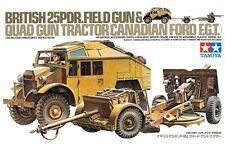 Tamiya 35044 Maquette 1/35  BRITISH 25PDR.FIELD GUN & QUAD GUN TRACTOR