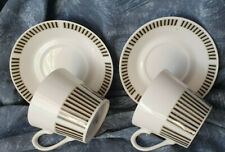 More details for  royal osborne caprice 2 cups & saucers mid century modern vintage chic  gh