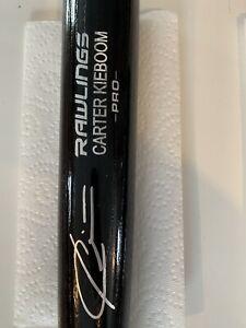Carter Kieboom Signed Autographed Engraved Bat Rawlings PRO JSA COA