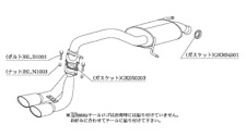 KAKIMOTO EXHAUST KRNOBLE ELLISSE FOR SUZUKI WAGON R MH44S MH34S MH34S S52332C