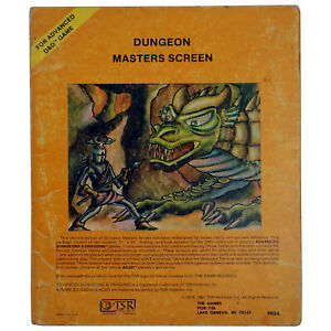 TSR AD&D Dungeon Masters Screen 2nd Edition 9024 - Pre-owned THG