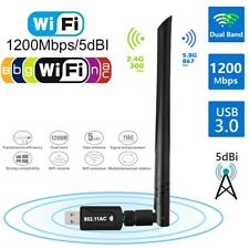 WiFi Network Adapter AC1200 Mbps Dual Band 2.4/5Ghz Wireless USB Antenna 802.11