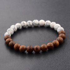 Charm Jewelry 8mm Wood Beads Energy Yoga Reiki Women Men Bracelets Xmas Gift