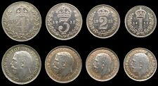 More details for george v 1911 full maundy set - fourpence, threepence, twopence, penny