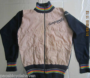 Wool Giordana Campagnolo L.S. Winter Cycling Jacket Italian Blue/Gray Childs XL