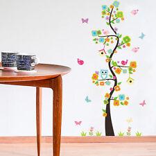 Lovely Owl Bird Tree Swing Wall Sticker Decal For Kids Baby Nursery Room Decor