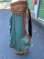 Mizuno Golf Country Club Metropolitan Series Cart Bag Brown Green Like Coach