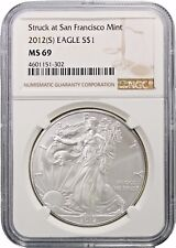 2012 (S) American Silver Eagle NGC MS69 San Francisco Mint