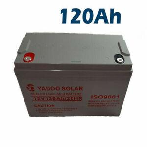 batteria 12 vl 120 ah per kit fotovoltaico pannello solare camper accumulo