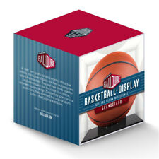 NEW Ballqube Grandstand Basketball Display Case Box w/ Black Base - 98% UV