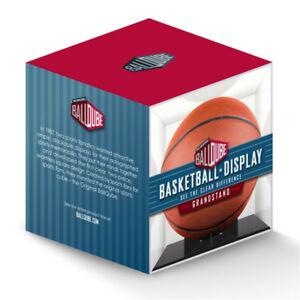 NEW Ballqube Grandstand Basketball Display Case Box w/ Black Base - 98% UV