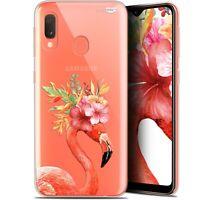 """Coque Gel Samsung Galaxy A20E (5.8"""") Extra Fine - Flamant Rose Fleuri"""