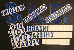 SET NOMI+NUMERI-NOMI UFFICIALI ITALIA HOME/AWAY EURO 1996 OFFICIAL NAMESET