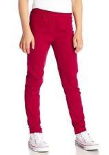 CFL Niños Niñas Vaqueros Pantalones chinos CHINOS Stretch rojo 348884