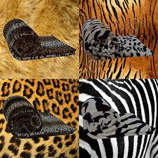 Luxury Warm Animal Print Soft Faux Fur Fleece Mink Throw Blanket Sofa Bed