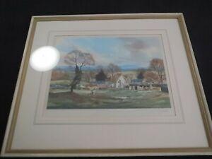 Michael Barnfather landscape artist large signed print of a farmhouse scene