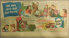Super Suds Ad: The Man Who Was Too Polite! Super Suds ! 1940's