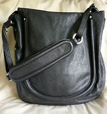 "SAC A MAIN CUIR BESACE KICK  ""SEQUOIA"" + DUST BAG LEATHER HAND BAG"