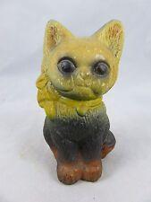 Vintage Cat Kitten Figurine - Carnival Chalkware