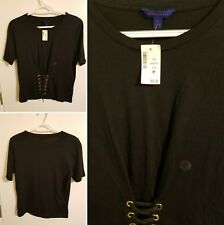 Aeropostale Womens Shirt With Front Laces|Reg.Large|NWT|FREE SHIPPING TO USA!!