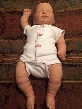 Berenguer REBORN Sleeping Preemie Infant Baby Girl Doll Rooted Hair Newborn