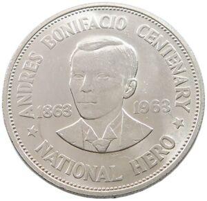 PHILIPPINES PESO 1963 TOP #alb45 191
