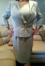 $1180 Sunny Choi mother of bride groom Satin jacket skirt 12 Suit Mothers Day