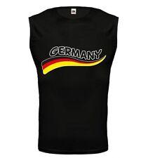 Muskelshirt Tank Top Germany-Wave Deutschland Fanshirt Trikot Fußball Flagge