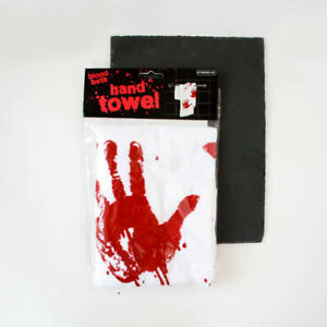 BLOOD Hand TOWEL by Spinning Hat HALLOWEEN  Decoration  Pranks Gift Idea New