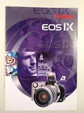 Canon EOS IX, prospetto DIN a4 per ASP fotocamera, 12 pagine, 1996, stato di tabulazione!