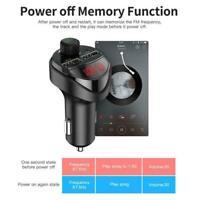 USB-Ladegerät Bluetooth-Auto-FM-Sender MP3-Freisprech-Radioadapter-Kit NEW U6C8