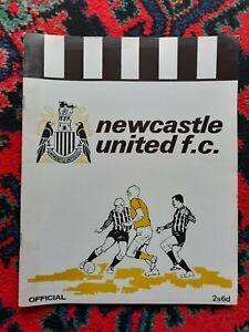 NEWCASTLE UNITED  BROCHURE 1968