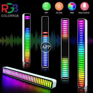 Car Atmosphere 40LED RGB Strip Light Bar Music Rhythm Lamp APP Wireless Control