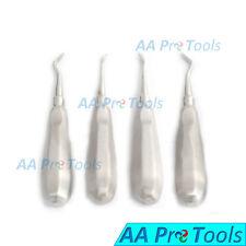 Set of 4 Miller Dental Root Extracting Potts East West Right Left Elevators