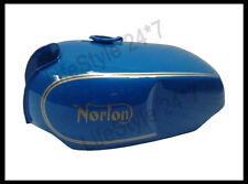 New Norton Commando Roadster Blue Painted With Logo Steel Gas Fuel Tank