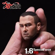 1/6 Special Forces Asian war wolf Male Head Sculpt Carved For 12'' Action Figure