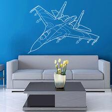 Vinyl Wall Decal Sticker Design Airplane Fighter VY360