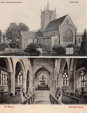 2 Wirksworth Church Nr Matlock old pcs ( one used 1905)