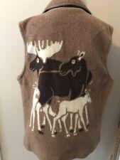 Marc Tetro Moose Fleece Vest Thick Brown Women's Size L