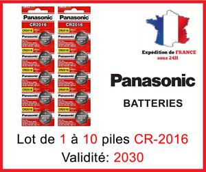Piles Bouton CR-2016 Panasonic 3 Volt  DLC 2030