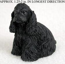 Cocker Spaniel Mini Resin Dog Figurine Statue Hand Painted Black