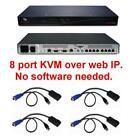Avocent DSR1021 8 port KVM over IP Switch TESTED +4 DSRIQ-USB USB Cables modules