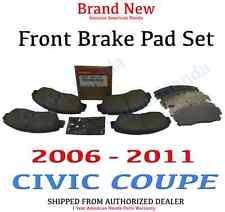 2006- 2011 Honda CIVIC COUPE 2DR Genuine Factory OEM Front Brake Pad Set