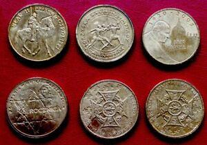 POLAND 2 Zlote 6 Pieces Lot 2004 & 20011 - 6 Commemorative coins -