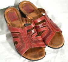 Red Clarks Slides Sandals 6.5M